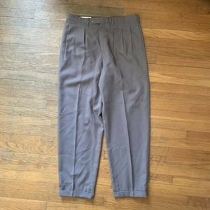 Vintage Bill Blass Grey Pleat Front Trousers